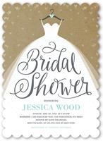 dreamy wedding dress bridal shower invitation 5x7 flat