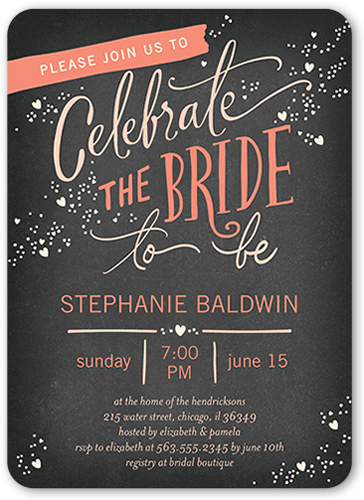 Chic Celebration Bridal Shower Invitation