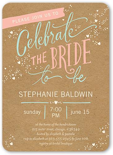 Chic Celebration Bridal Shower Invitation, Rounded Corners