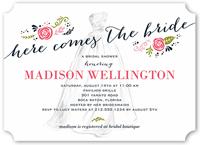 timeless dress bridal shower invitation 5x7 flat