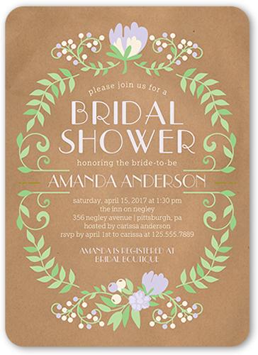 Blossoming Celebration Bridal Shower Invitation, Rounded Corners
