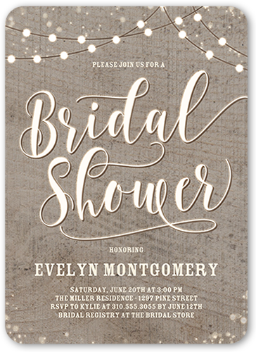 String The Lights Bridal Shower Invitation