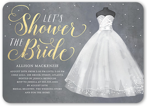 Bride 5x7 Bridal Shower Invitations