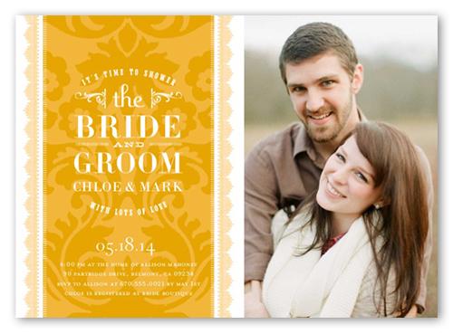 Charming Pair Bridal Shower Invitation, Square Corners