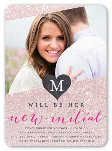 New Initial Bridal Shower Invitation