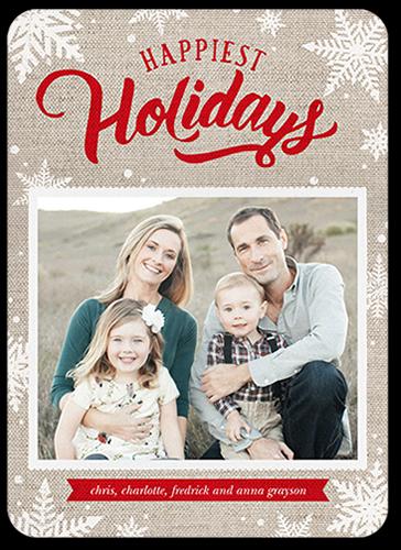 Joyous Snowflakes Holiday Card