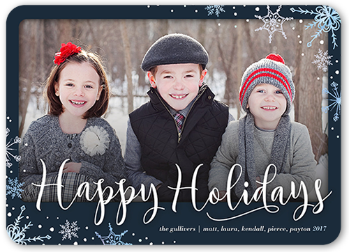Elegant Snowfall Holiday Card