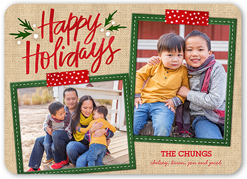 Stitched Frames Holiday Card