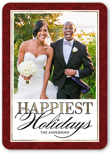 Happy Stroke Greeting Holiday Card, Rounded Corners