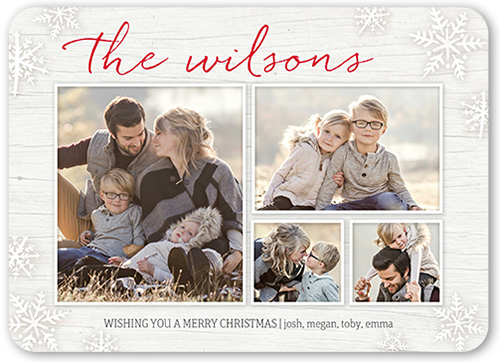 Family Script Greeting Holiday Card, Rounded Corners
