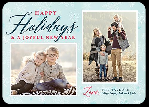 Pleasant Joyful Greeting Holiday Card, Rounded Corners