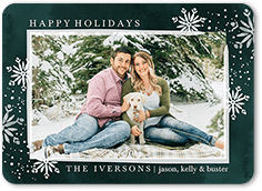 brushed flurries holiday card