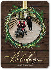 wreathed in joy holiday card