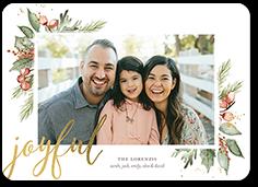 joyous holly holiday card
