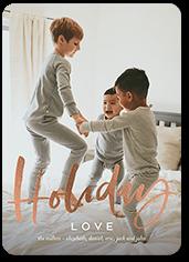 cheerful cursive holiday card