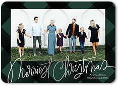 lively script holiday card