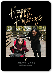 solid frame holiday card
