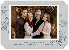 elegant frost holiday card