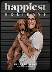 shining glee holiday card