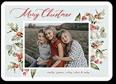 beautiful botanicals holiday card