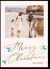 seasonal shimmer holiday card