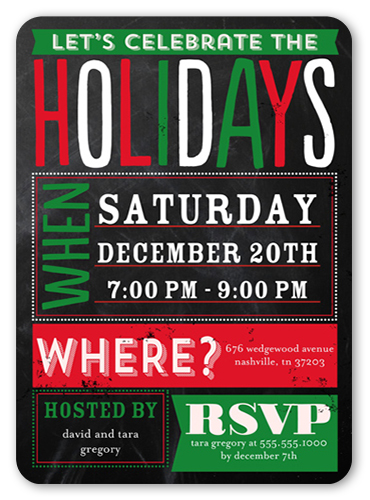 Party Poster Holiday Invitation