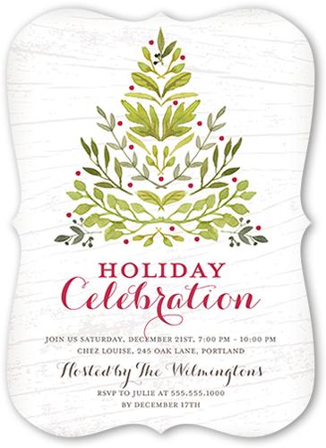 Botanical Celebration Holiday Invitation