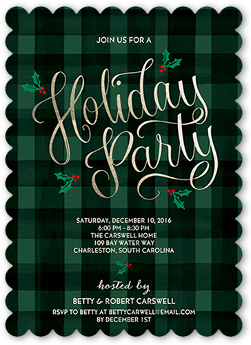 Festive Delight Holiday Invitation