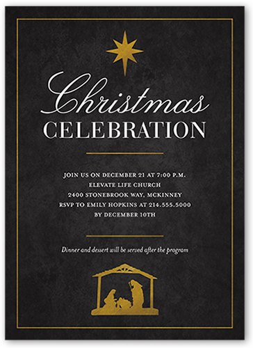 Graceful Script Holiday Invitation