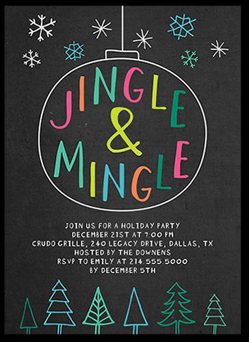 Colorful Jingle Holiday Invitation