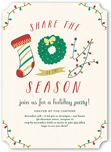 Joyous Season Holiday Invitation