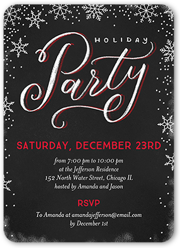 Falling Festive Flurries Holiday Invitation