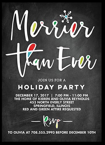 Chalkboard Festivities Holiday Invitation, Square