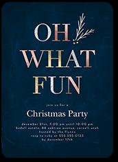 elegant fun holiday invitation