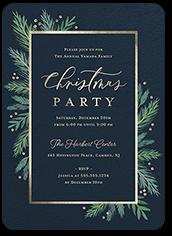 wintertime greens holiday invitation