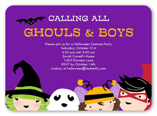 Ghouls and Boys Halloween Invitation