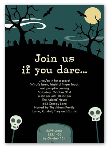 halloween invitations cards