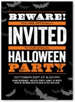 Halloween invitations shutterfly beware bats stopboris Image collections