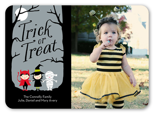 Trick Or Treaters Halloween Card