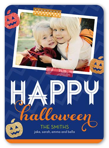 Glitter Pumpkins Halloween Card