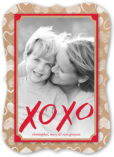 Charming Border Valentine's Card, Bracket Corners