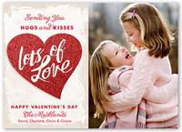 glitter love valentines card 5x7 flat