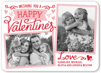 thoughtful wishes valentines card 5x7 flat
