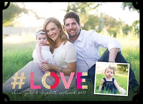 Hashtag Love Valentine's Card, Ticket Corners