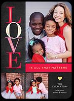 love matters valentines card 5x7 flat