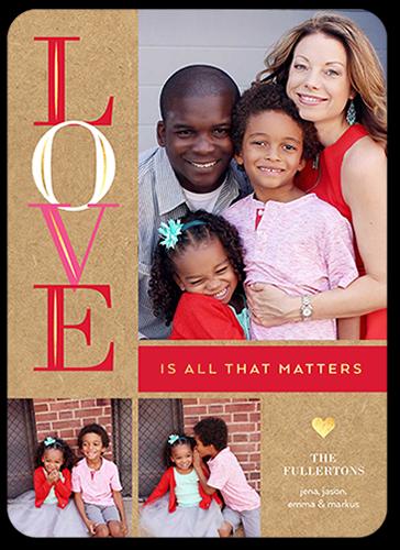 Love Matters Valentine's Card, Square