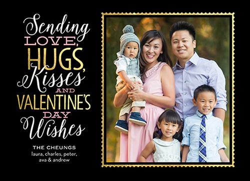 Sending Hugs Valentine's Card, Square Corners
