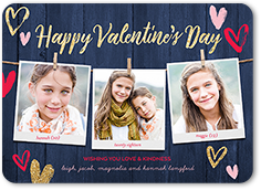 rustic wishes valentines card 5x7 flat