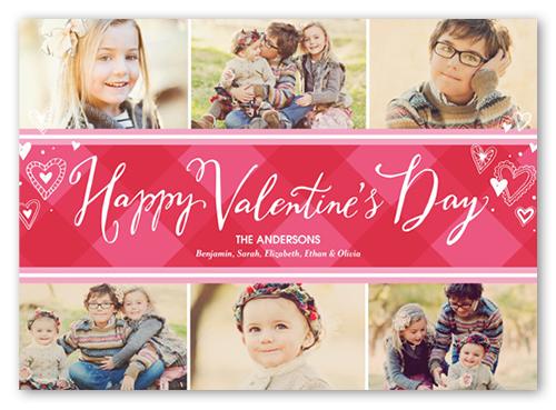 Happy Preppy Collage Valentine's Card, Square