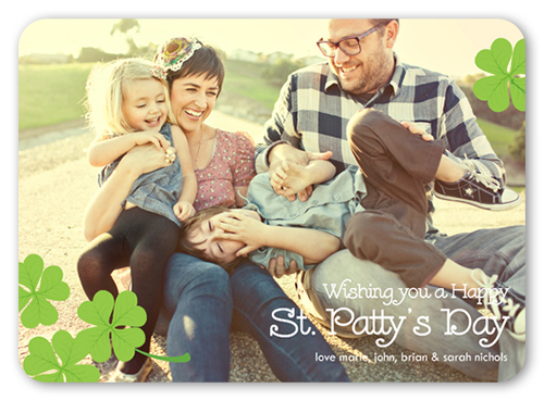 Four Leaf Clovers St. Patrick's Day Card